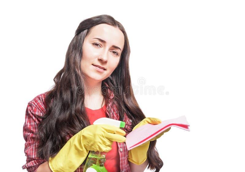 Nettoyeur de femme au foyer photo libre de droits