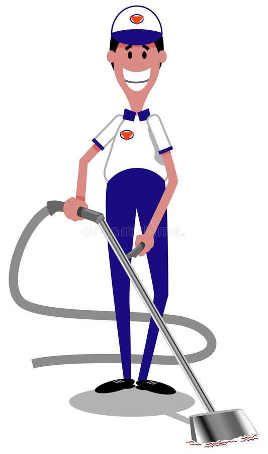 Nettoyeur de tapis illustration stock