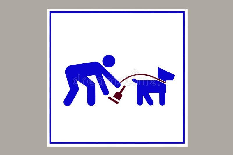 Nettoyez après votre chien illustration stock
