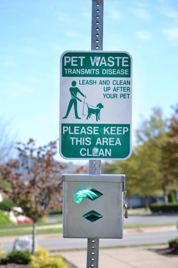 Nettoyez après votre signe d'animal familier photos stock