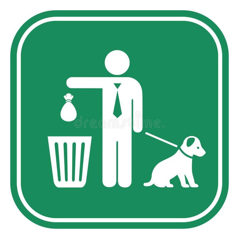 Nettoyez apr?s votre signe de crabot illustration de vecteur