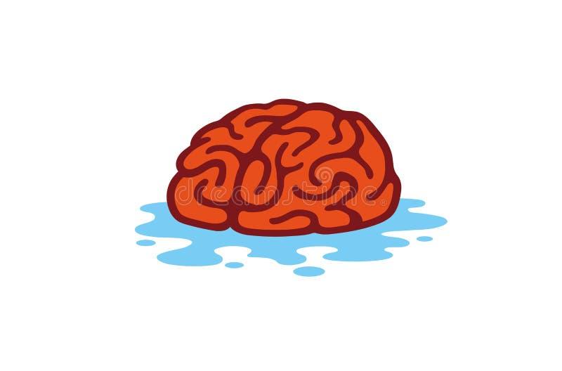 Nettoyez Brain Water Logo illustration stock