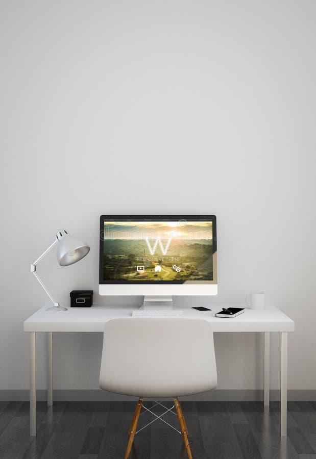 nettoyez l'espace de travail avec le site Web sensible de thème illustration de vecteur