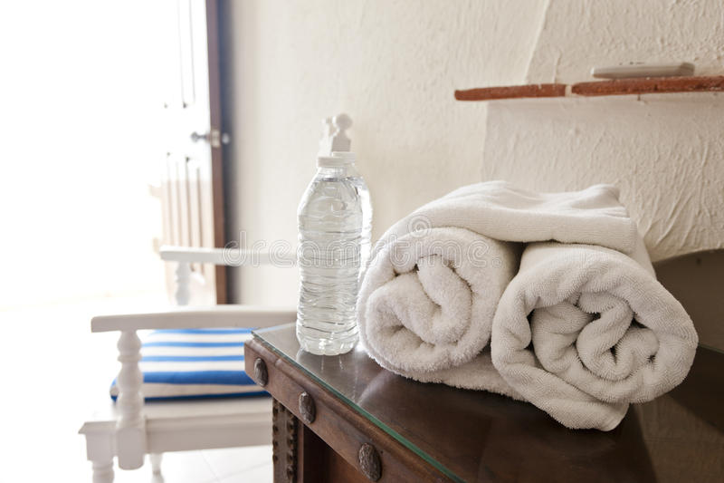 Nettoyez l'hospitalité photo stock