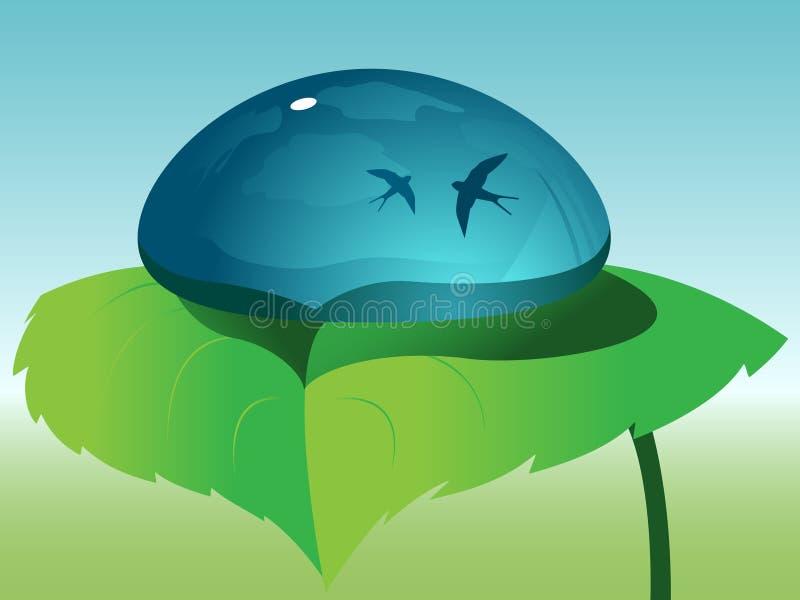 nettoyez la lame verte de baisse illustration stock