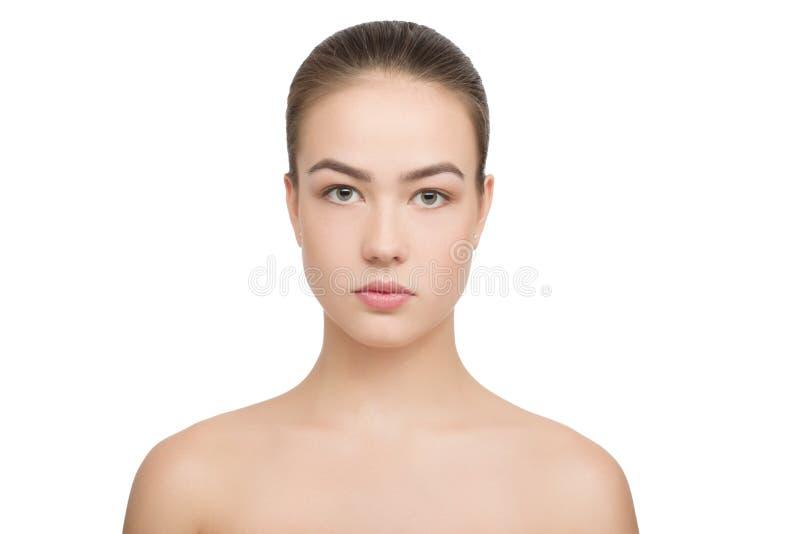 Nettoyez la peau d'isolement images stock