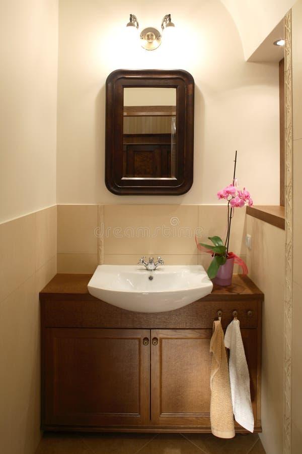 Download Nettoyez la salle de bains image stock. Image du meubles - 4350421
