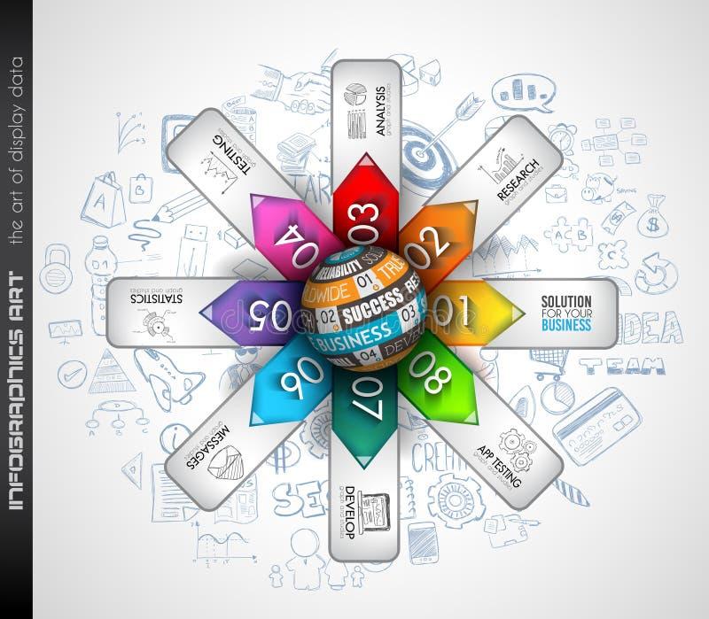 Nettoyez le calibre de disposition d'Infographic pour l'analyse des informations illustration stock
