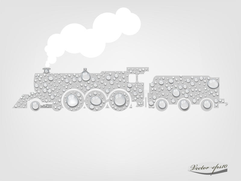 nettoyez le concept de transport illustration stock