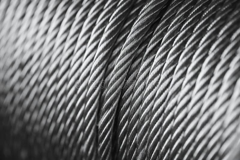 Nettoyez le fil d'acier de nouveau câble en acier ou la corde en acier, tambour de bride de corde images libres de droits