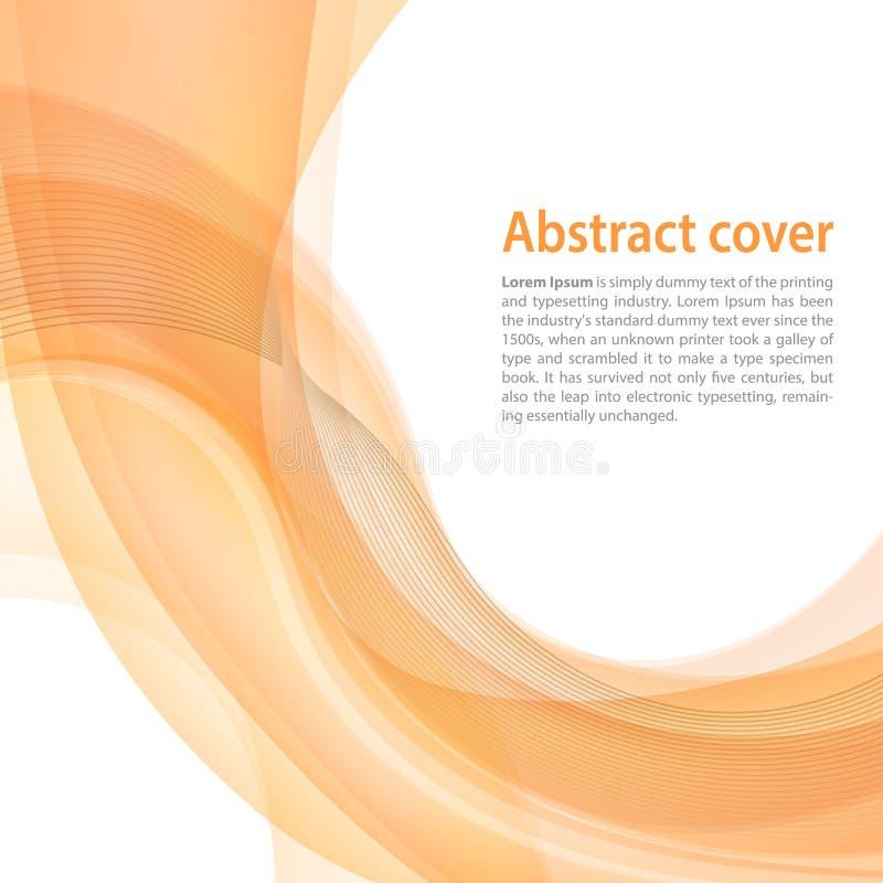 Nettoyez le fond avec le gradient jaune et orange et mélangez Busi illustration stock