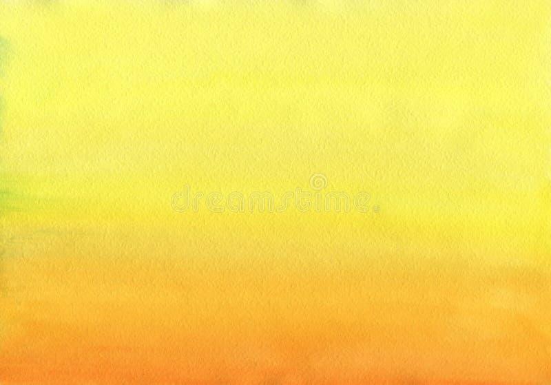 Nettoyez le gradient chaud d'uniforme de fond d'aquarelle illustration libre de droits