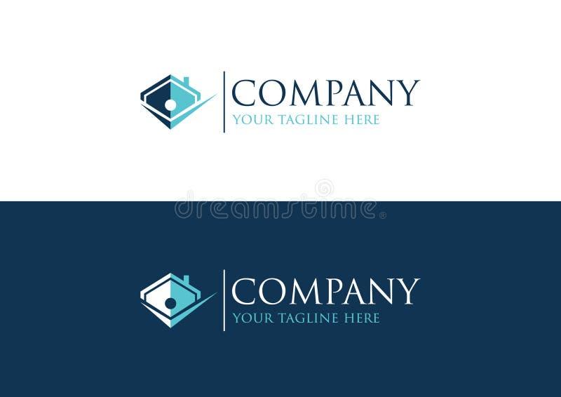 Nettoyez le logo de maison pour la soci?t? d'investissement immobilier illustration libre de droits