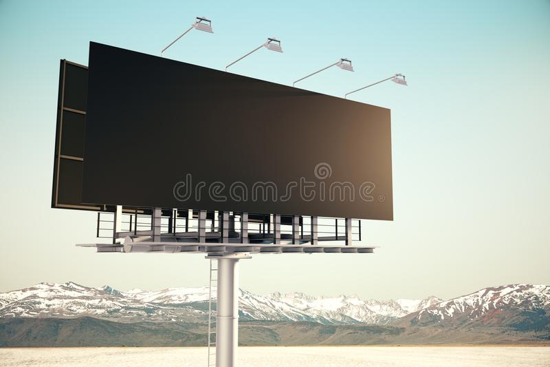 Nettoyez le panneau d'affichage noir en ciel illustration de vecteur