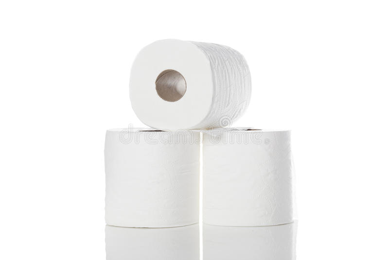 Nettoyez le papier hygiénique blanc photographie stock libre de droits