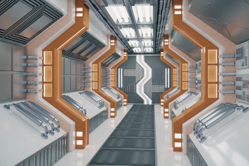 Nettoyez le tunnel futuriste illustration libre de droits