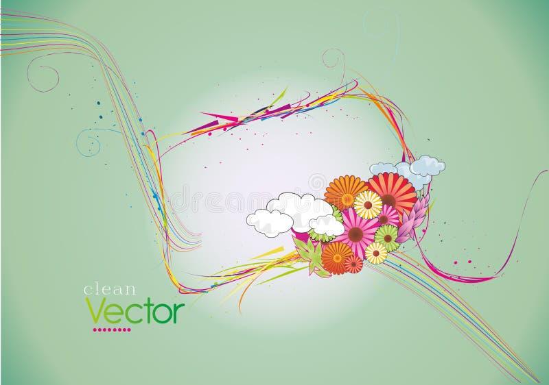 Nettoyez le vecteur floral illustration libre de droits