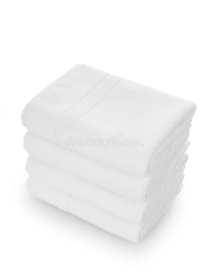 Nettoyez les essuie-main blancs images stock