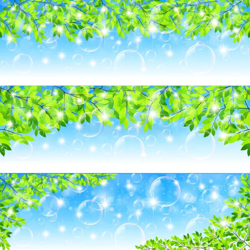 Nettoyez les illustrations vertes fraîches de fond illustration libre de droits
