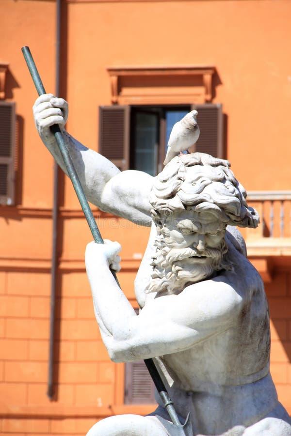 Nettuno ed il piccione fotografie stock