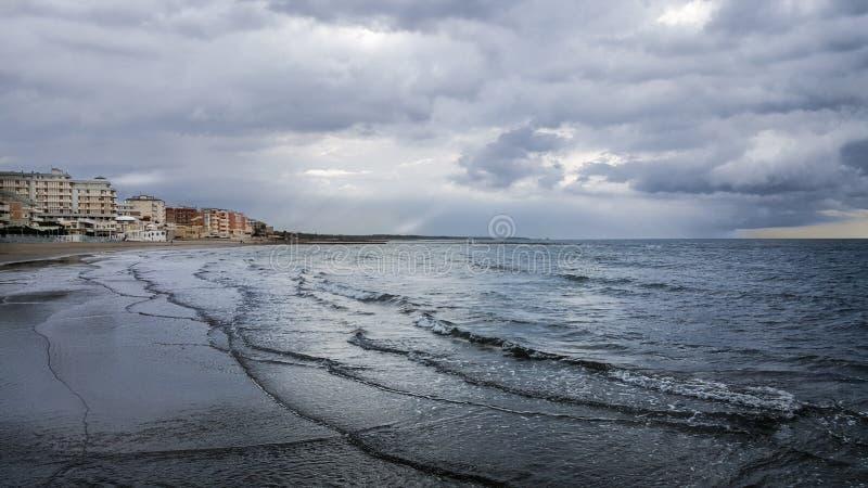 Nettuno havsstrand fotografering för bildbyråer