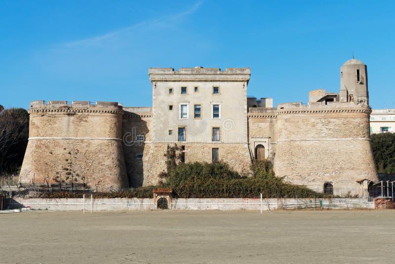 Nettuno Włochy San Gallo forteca obraz stock