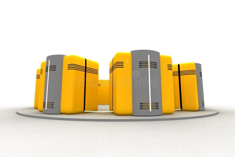 Netwerk 10 stock illustratie