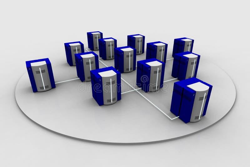Netwerk 2 vector illustratie