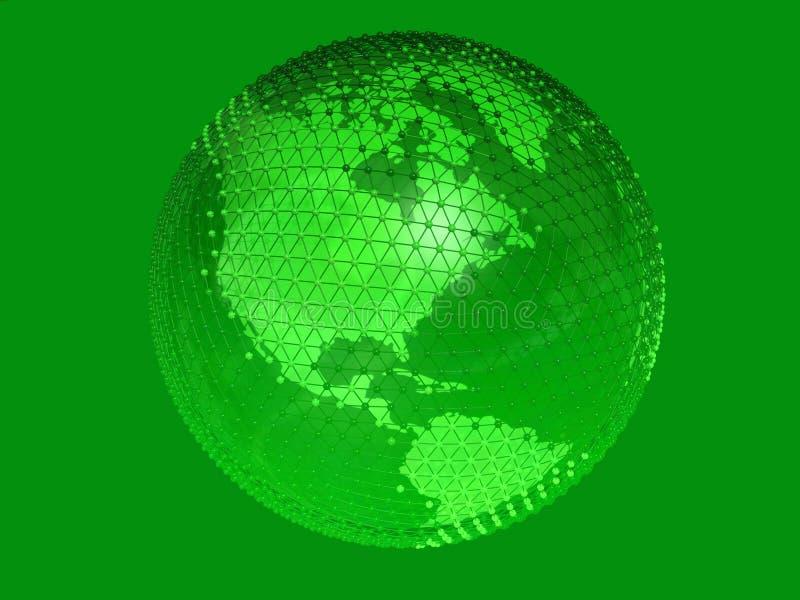 Netwerk 7 van de aarde royalty-vrije illustratie