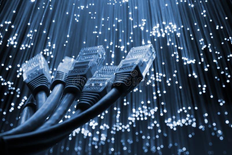Netwerk cabe stock foto
