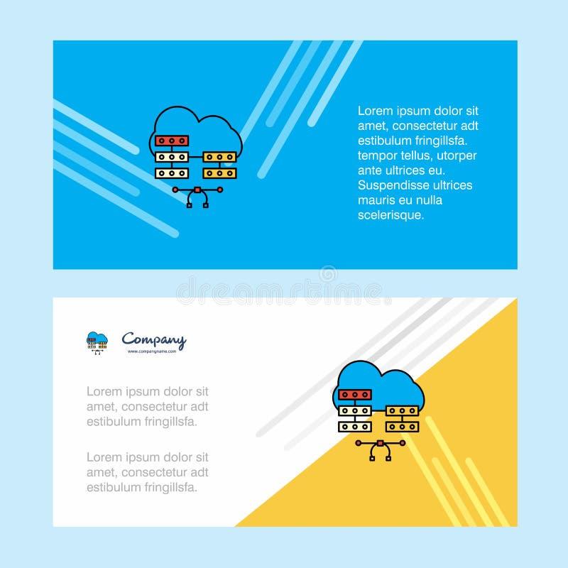 Netwerk communicatie abstract collectief bedrijfsbannermalplaatje, horizontale reclame bedrijfsbanner vector illustratie