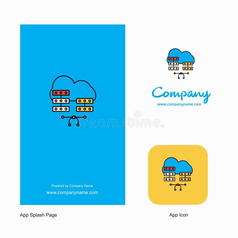Netwerk communication Company Logo App Icon en het Ontwerp van de Plonspagina Creatieve Bedrijfsapp Ontwerpelementen stock illustratie