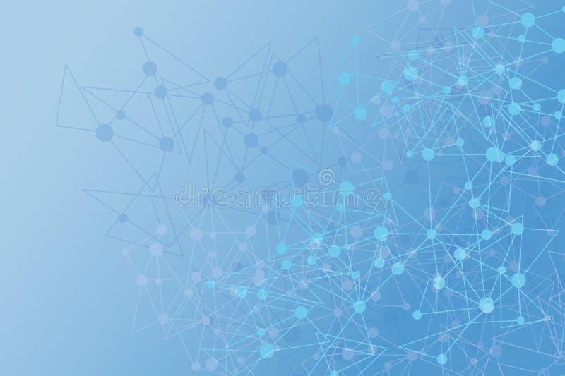 Netwerk Digitale Achtergrond het abstracte veelhoekige geometrische sc.i-ontwerp van FI Het vector veelhoekige ontwerp van de ill stock fotografie
