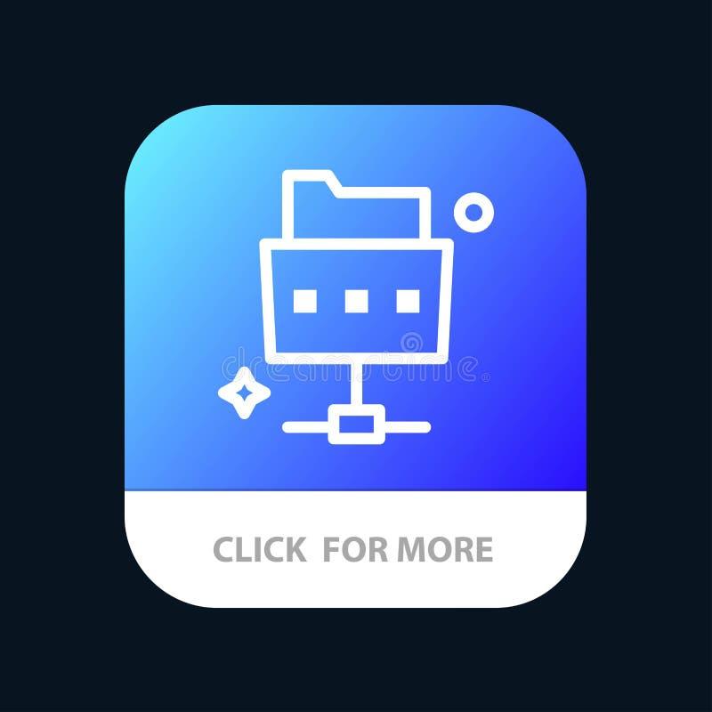 Netwerk, Dossier, de Knoop van de Omslagmobiele toepassing Android en IOS Lijnversie royalty-vrije illustratie