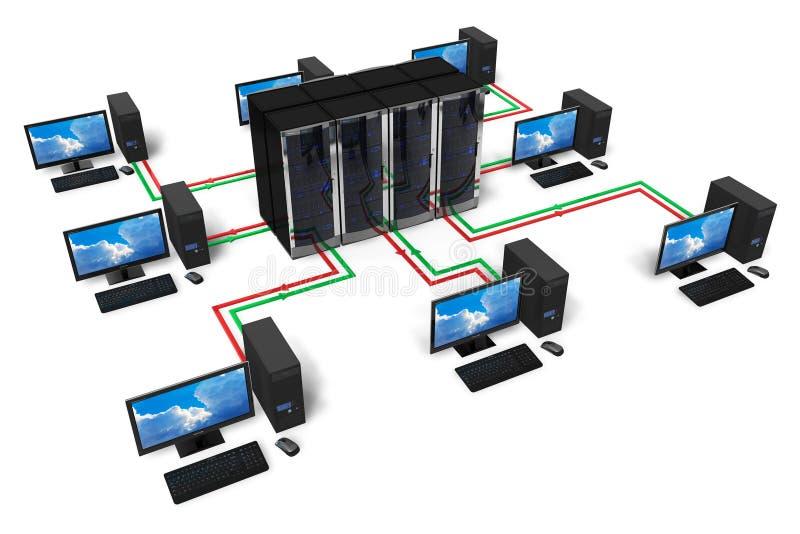 Netwerk en Internet communicatie concept royalty-vrije illustratie