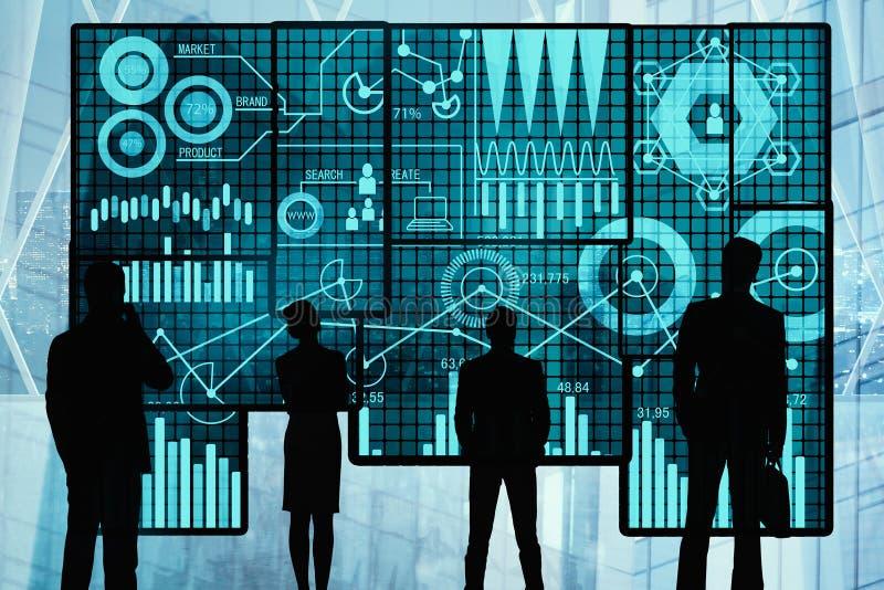 Netwerk en toekomstig concept royalty-vrije stock afbeelding