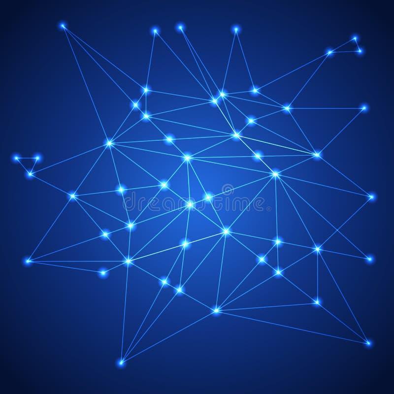 Netwerk Het concept van de aansluting royalty-vrije illustratie