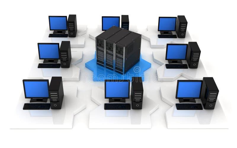 Netwerk, meningsvoorzijde vector illustratie