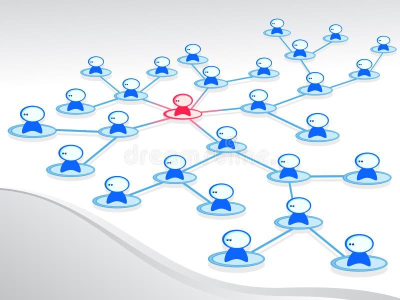 Netwerk mensen royalty-vrije illustratie