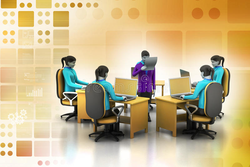 Netwerk met laptop vector illustratie