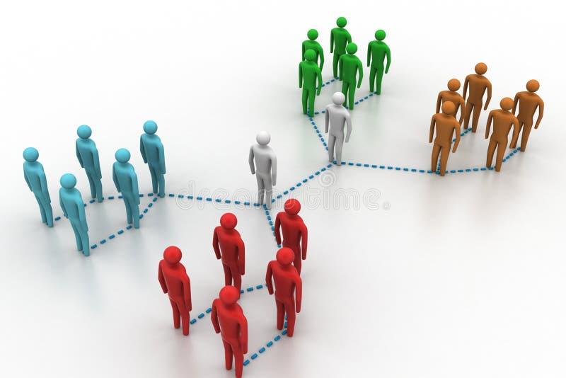Netwerk met mensen stock illustratie