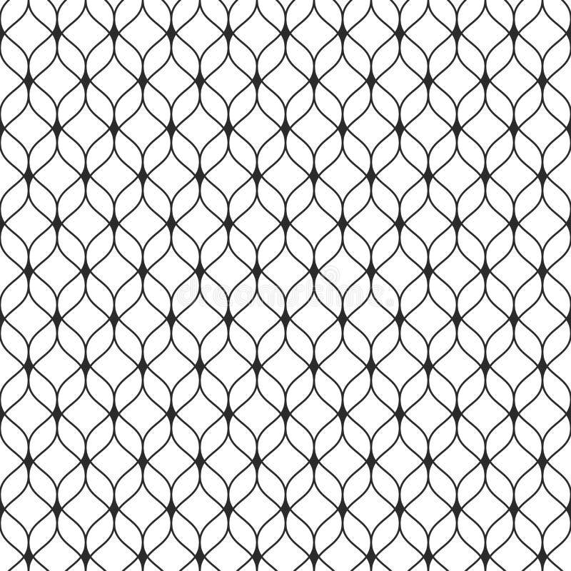 Netwerk naadloos patroon, dunne golvende lijnen, gevoelig rooster stock illustratie