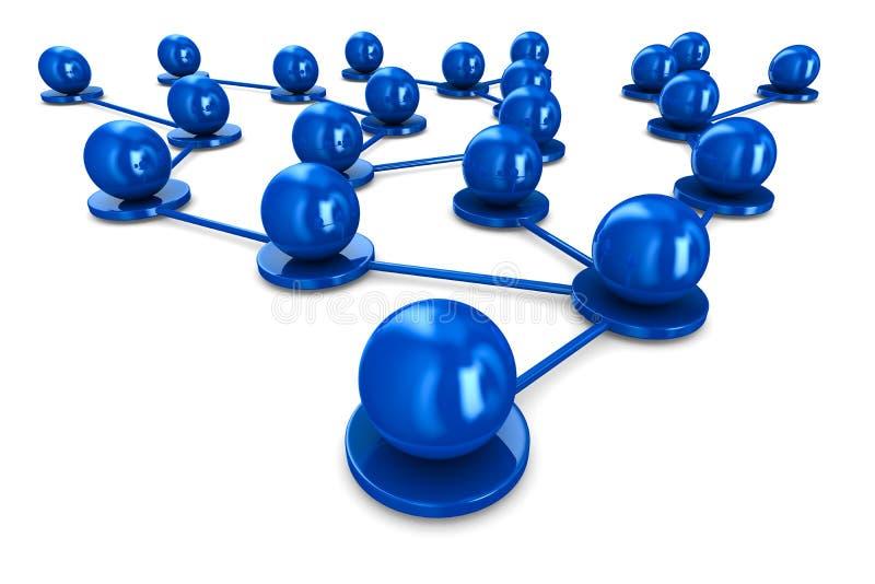 Netwerk op witte achtergrond stock illustratie