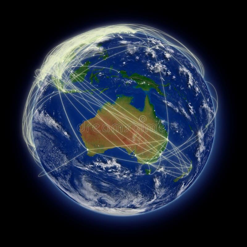 Netwerk over Australië vector illustratie