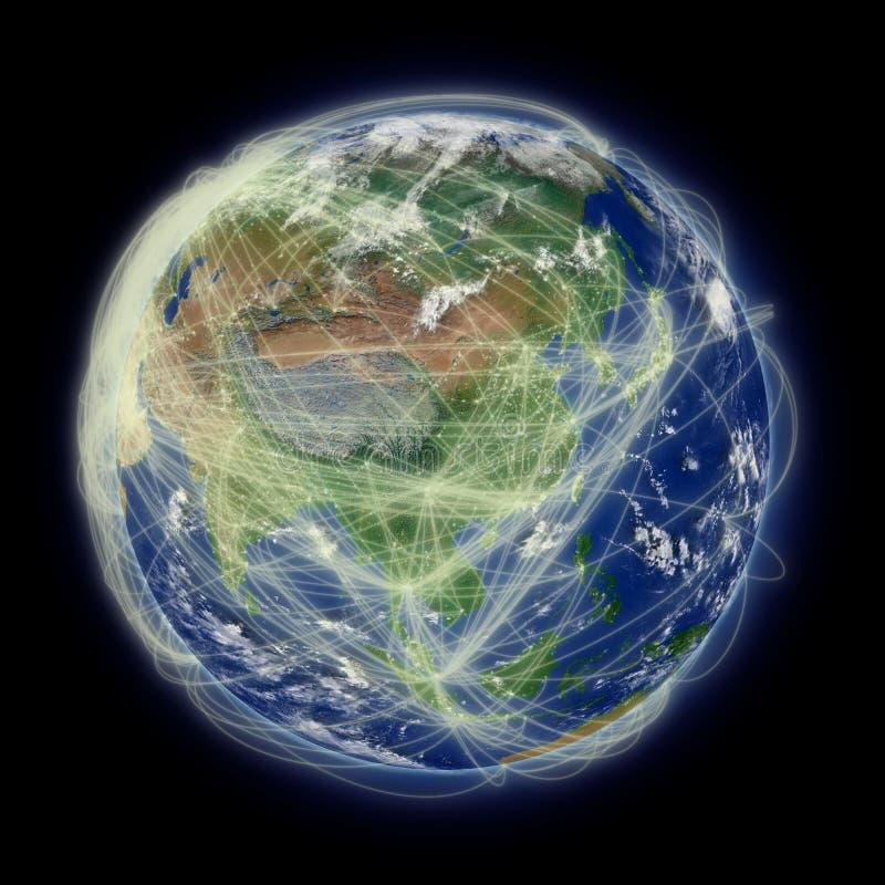 Netwerk over Azië royalty-vrije illustratie