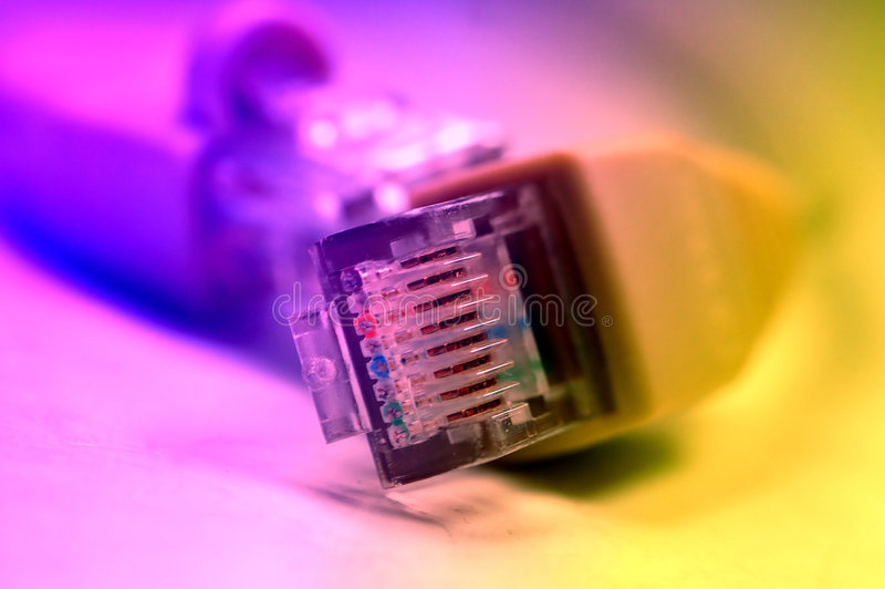 Netwerk rj45 plugin royalty-vrije stock afbeelding