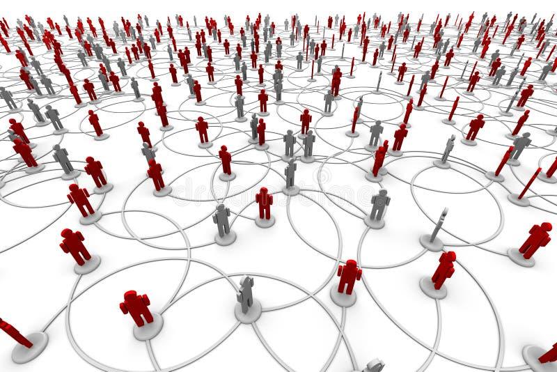 Netwerk van Mensen stock illustratie