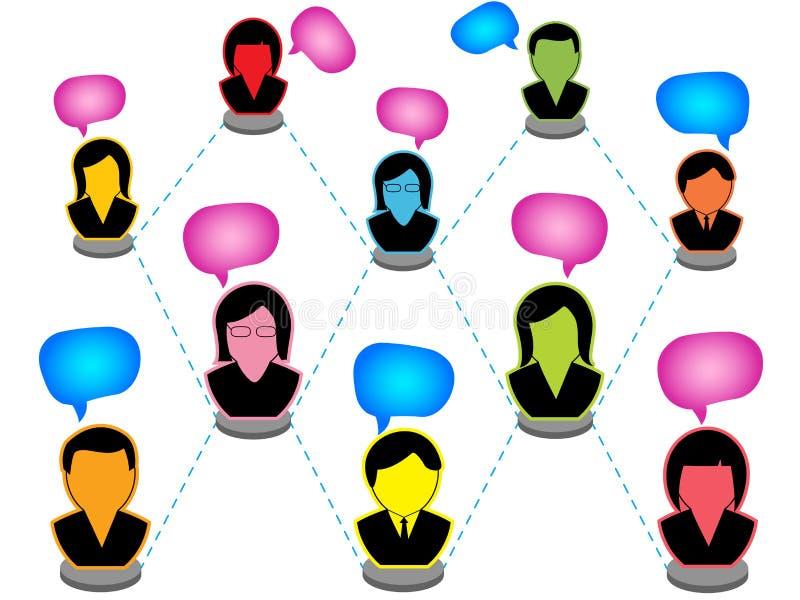Netwerk van mensen vector illustratie