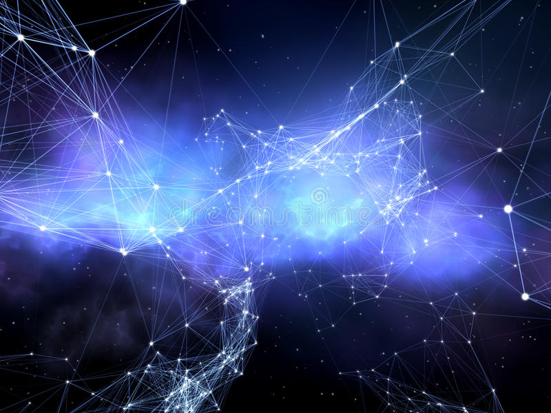 Netwerk van sterren. royalty-vrije illustratie