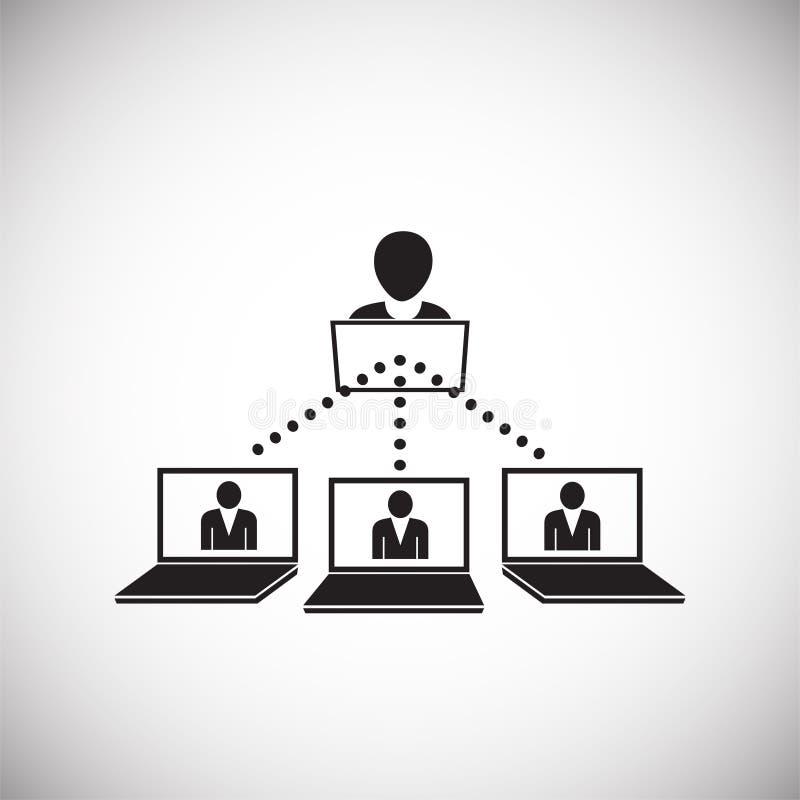 Netwerk van verbonden mensen op witte achtergrond royalty-vrije illustratie